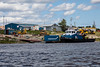 Tug Nelson River docked at Moosonee.