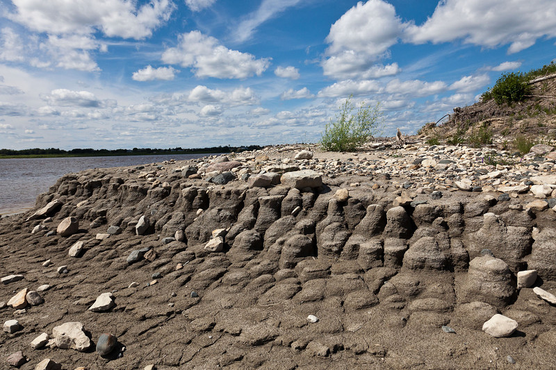End of Charles Island (up river), note erosion caused by ice breakup in spring.