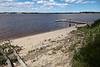 Beach and dock on Charles Island
