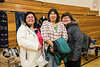 Christmas Flea Market in Moosonee 2016 December 17th. Pauline Sackaney, Liz Williams, Gertie Linklater.