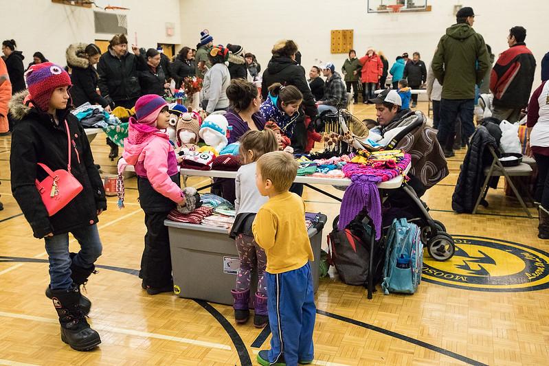 Christmas Flea Market in Moosonee 2016 December 17th.
