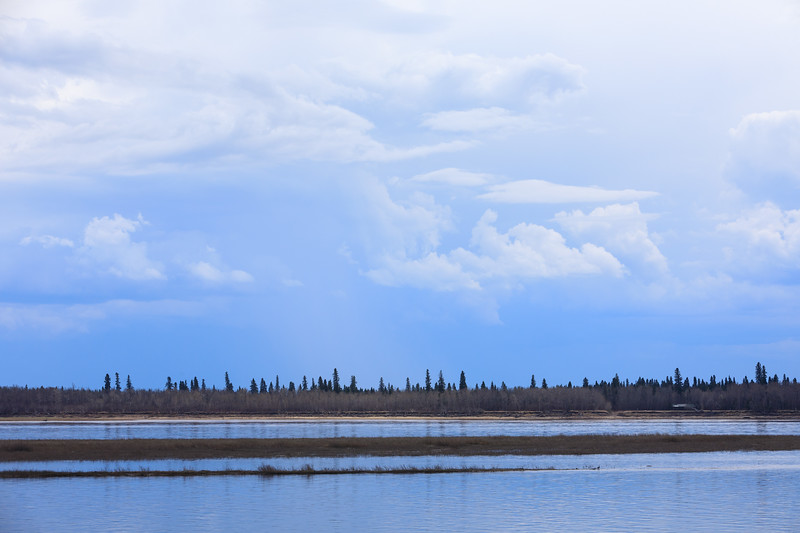 Clouds over the Moose River before the storm. 2017 May 27th.