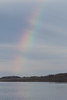 Partial rainbow down the Moose River.