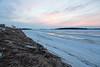 Moose River shoreline looking down river before sunrise.