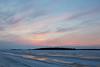Looking across the Moose River before sunrise. Purple skies over Butler Island.