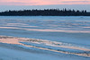 Surface of the Moose River before sunrise.