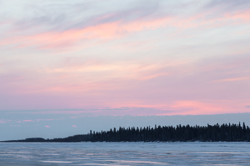 Sky over north end of Butler Island before sunrise.
