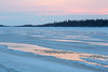 Surface of the Moose River around sunrise.