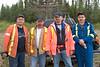 Ontario Northland Railway staff involved in 2005 May 28 Emergency Response Exercise in Moosonee.