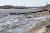 Exceptionally low tide in Moosonee today. Public docks.