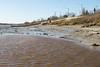 Exceptionally low tide in Moosonee today. Looking towards public docks
