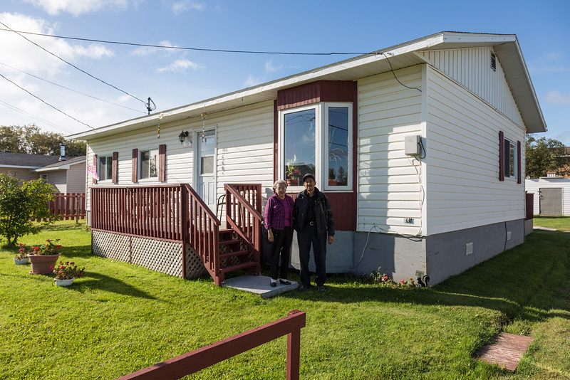 Dorothy and Ken Wynne at their home in Moosonee on their 62nd wedding anniversary 2016 September 1st.