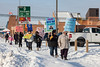 Protest march in support of hunger strike by Chief Theresa Spence of Attawapiskat. Held in Moosonee, Ontario.