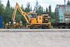 Rail mounted crane 5102-AB KTC 1200 at Moosonee station 2006 July 23rd.