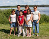Six children on Revillon Road 2006 July 23rd.