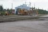 Maintenance of Way equipment at Moosoene train station 2006 July 23rd.