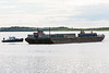 Tug Harricana River with barge on the Moose River 2006 July 23rd.