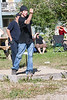 Tossing a horseshoe 2006 July 23rd.