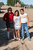 Three girls on Revillon Road 2006 July 23rd.