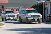Ontario Provincial Police vehicles; white with blue and gold stripes. 2006 July 23rd.