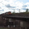 Poor quality video of the regular train or Little Bear arriving in Moosonee on 2007 May 28th. Included to show consist of the one of the last runs of this train which was replaced by the year round Polar Bear Express and separate freight trains.