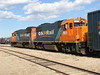 GP38-2 1804 and 1809 after arrival of mixed train or Little Bear. 2007 May 28th.