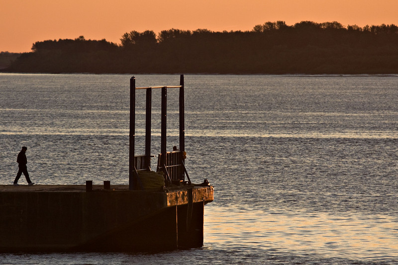 Barge early in the morning