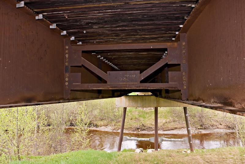 Underneath Ferguson Road bridge underneath Store Creek