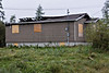House on Wabun Road in Moosonee that sustained fire damage.