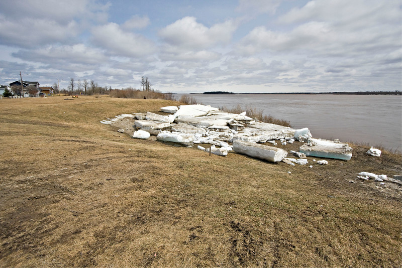 Stranded ice at McCauley's Hill in Moosonee
