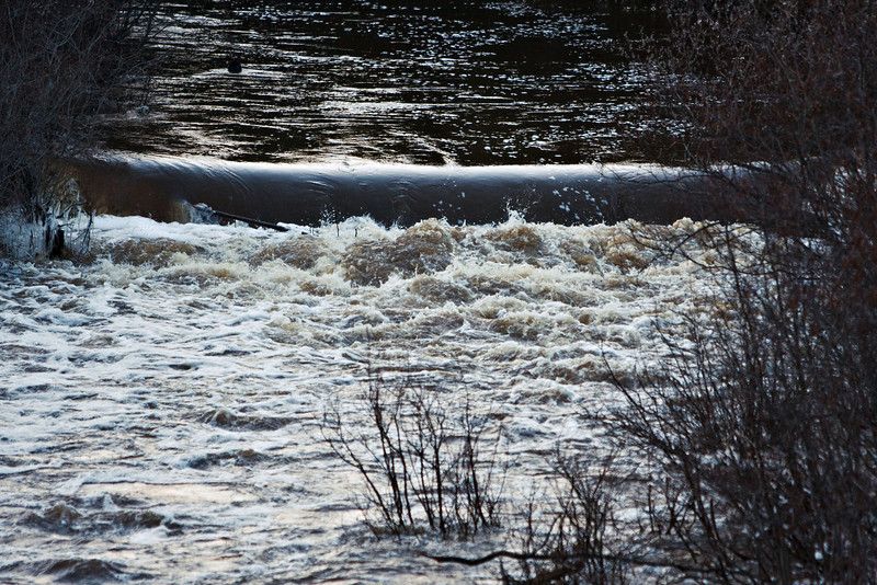 Water flowing over Store Creek dam
