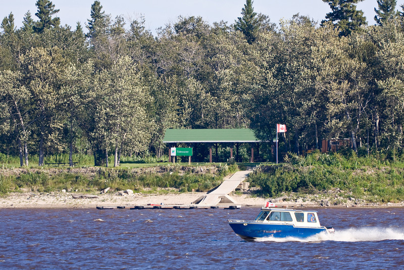 Tidewater Park on Charles Island in the Moose River across from Moosonee.
