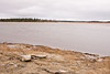 Shoreline ice in Moosonee, Ontario May 14, 2008