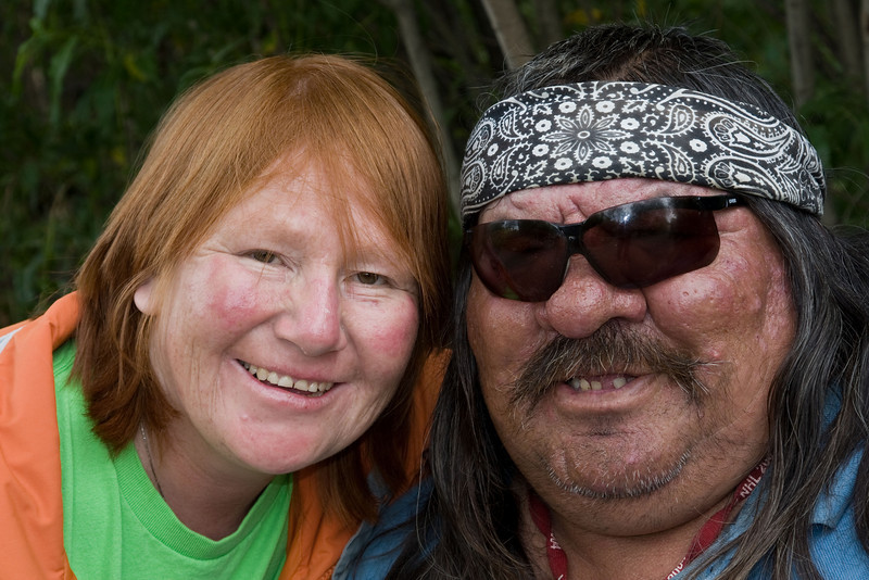 Phemi Linklater and Roy Linklater on Henry Crescent in Moosonee
