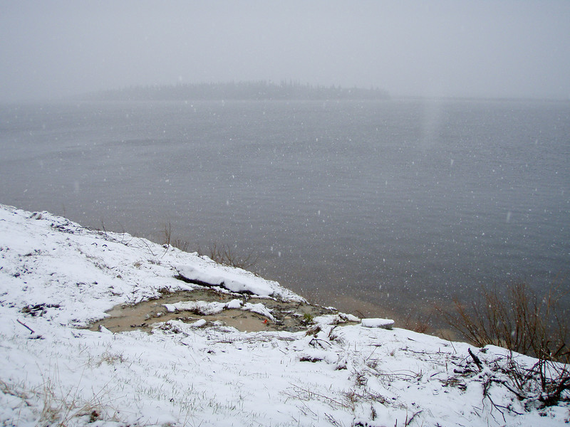 Looking across the Moose River towards Butler Island May 19, 2008