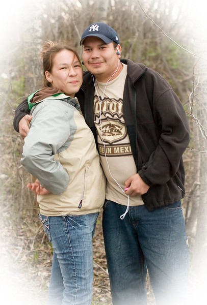 Couple along the bank of the Moose River