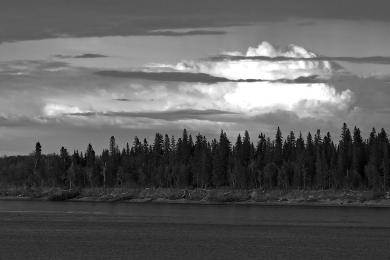 Clouds over the Moose River
