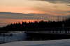 Sunset 2008 December 14 in Moosonee