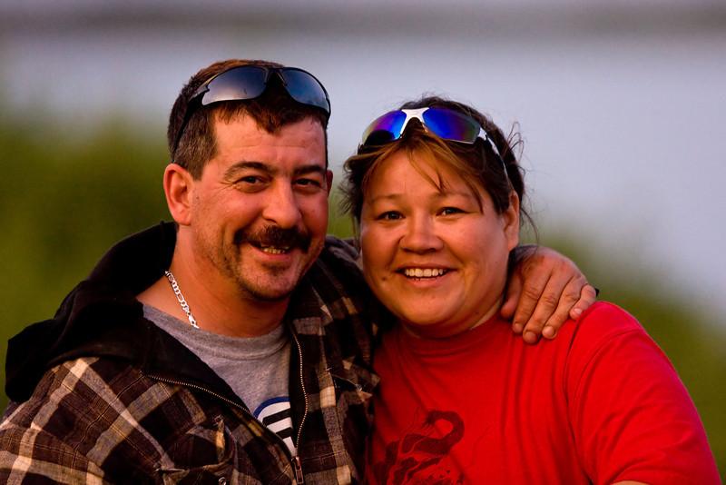 John Ploughman and Bertha Linklater at sunset