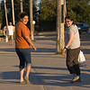 Amanda and Elizabeth on First Street in Moosonee