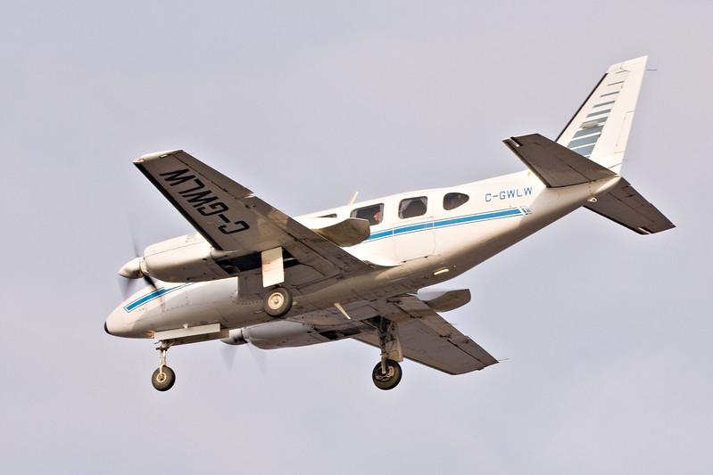 Wabush Air Piper Chieftan C-GWLW, rear left view