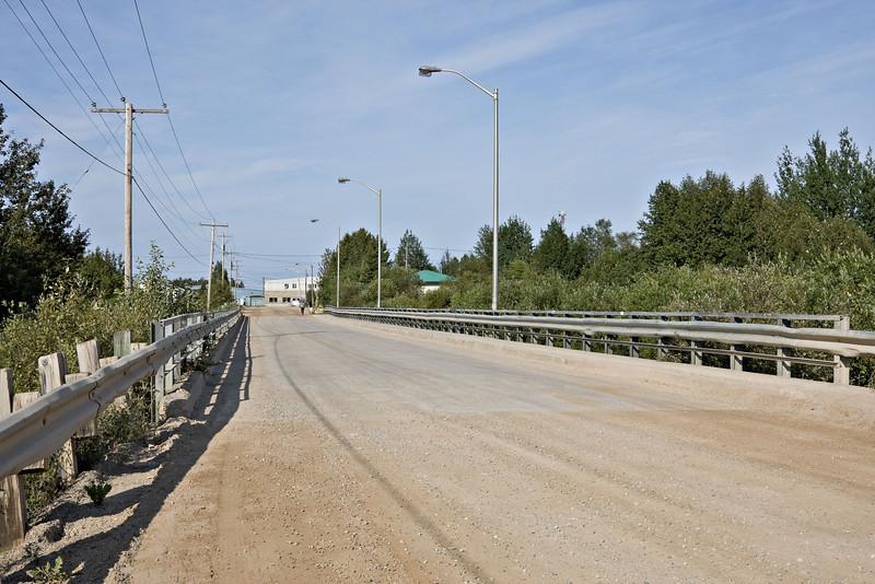 Atim Road bridge across Store Creek in Moosonee.
