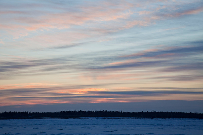 Cloudy sunrise over the Moose River 2008 December 18