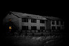 Moosonee Lodge - night shot, BW
