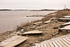 Looking towards public docks in Moosonee