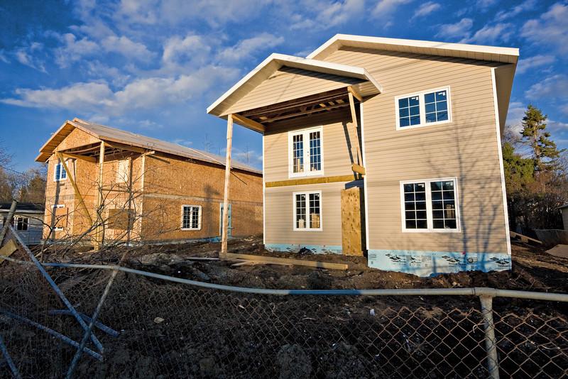 Construction on Bay Road in Moosonee