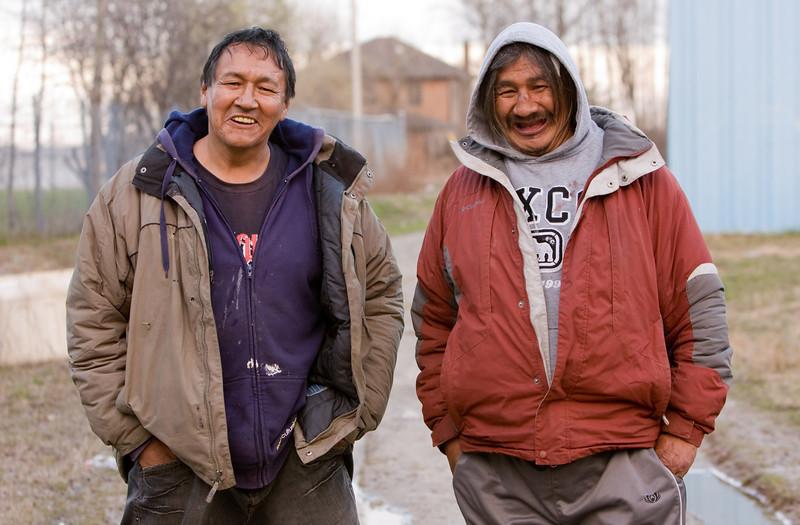 People on Henry Crescent in Moosonee, Ontario