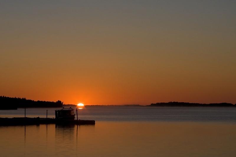 Sunrise 2008 July 21st from Moosonee public docks