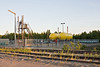 Newly constructed propane facility along tracks at Moosonee airport