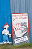 Fire Prevention Poster outside Moosonee Fire Hall